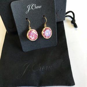 J Crew Pink Jewel Earrings NWT